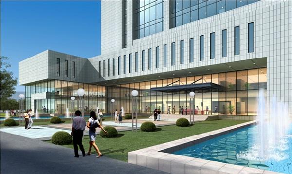 由扬州市建筑设计院设计,江苏华瑞苏盛咨询公司代理工程招标,邗建集团